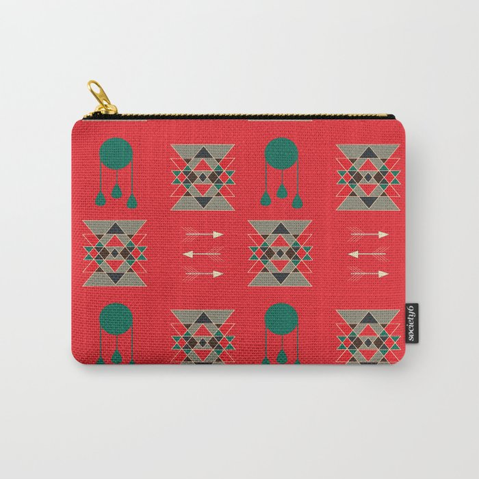 dream-catcher Red Carry-All Pouch