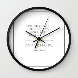 The beauty around you Wall Clock