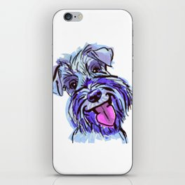 The Smiley Schnauzer Dog Love of my Life! iPhone Skin