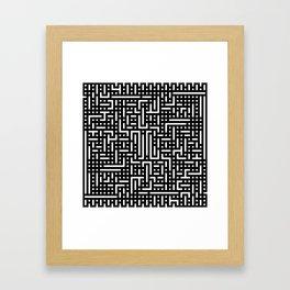 Black pattern Framed Art Print