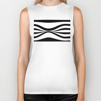 stripe Biker Tanks featuring Stripe Bend by Julie Maxwell