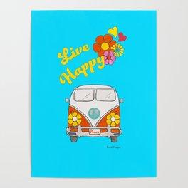 Live Happy Van Poster