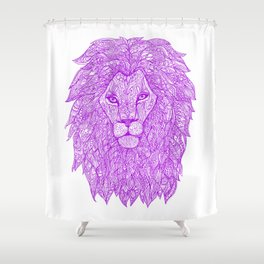 Violet Lion Shower Curtain