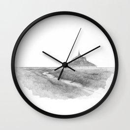 Le Mont-Saint-Michel Wall Clock