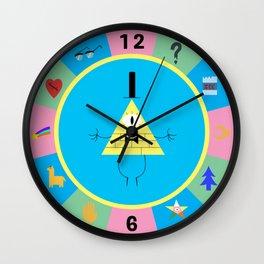 Bill Cipher Wheel clock Wall Clock