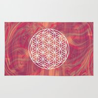 flower of life Area & Throw Rugs featuring Life Flower by shutupbek