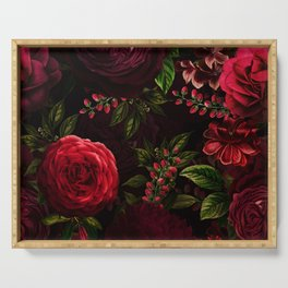 Vintage & Shabby Chic - Vintage & Shabby Chic - Mystical Night Roses Serving Tray