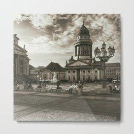 Berlin Gendarmenmarkt Vintage Metal Print