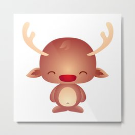 Cute Little Reindeer Metal Print