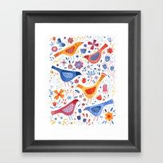 Birds in a Garden Framed Art Print