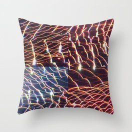 high voltage fishing Throw Pillow