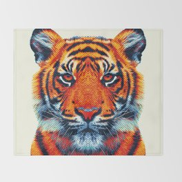 Tiger - Colorful Animals Throw Blanket