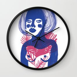Tropical Girl Wall Clock