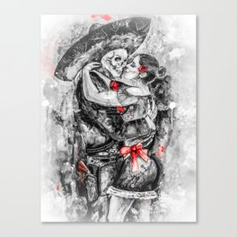 Un Ultimo Baile Pop-Red Version Canvas Print