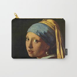 Girl with a Pearl Earring old painting Carry-All Pouch