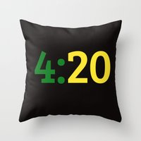 oakland Throw Pillows featuring Oakland 420 by Good Sense