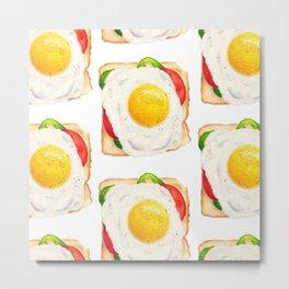 Egg on Toast : Food Series Metal Print