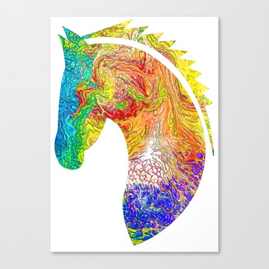 """""""Horse Colorful Silhouette"""" Canvas Print"""