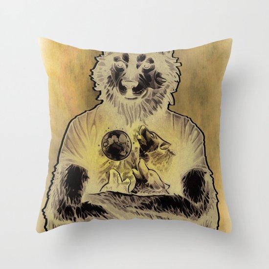 Four Wolf Moon Throw Pillow