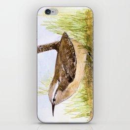 Wren Woodland Bird Nature Art iPhone Skin