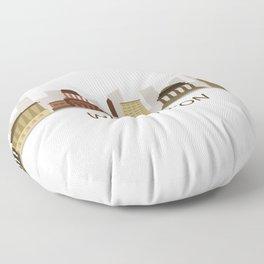 skyline washington Floor Pillow