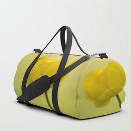 Yellow Globeflower On A Green Bokeh Background #decor #society6 #homedecor Duffle Bag