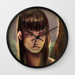 Girl in the Woods Wall Clock
