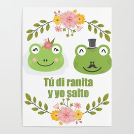 Frogs in love Poster