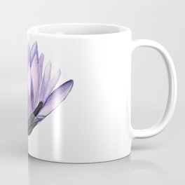 Purple Water Lily in Watercolor Coffee Mug