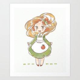 Pasta Hair Art Print