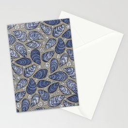 Blue Mussels Stationery Cards