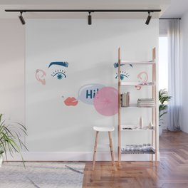 "bubble ""hi"" Wall Mural"