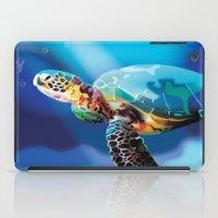 sea turtle iPad Cases featuring Sea Turtle by Natasha Alexandra Englehardt