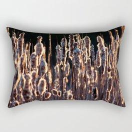 grass in golden light Rectangular Pillow