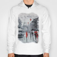 paris Hoodies featuring Paris by OLHADARCHUK