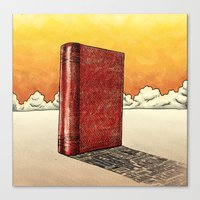 literature Canvas Prints featuring Literature Heavy book by gunberk