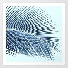 Palm leaf - oceanic Art Print