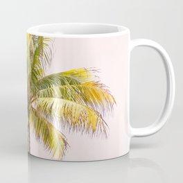 Palm Tree Photography   Pink Sunrise   Summer Vibes   Landscape Coffee Mug