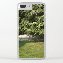 Waterhole in the Forest Clear iPhone Case