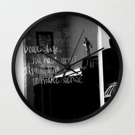 Dear Life Wall Clock