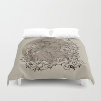 maleficent Duvet Covers featuring Maleficent by Sannypuff