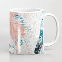Interrupt [2]: a pretty minimal abstract acrylic piece in pink white and blue by Alyssa Hamilton Art Coffee Mug