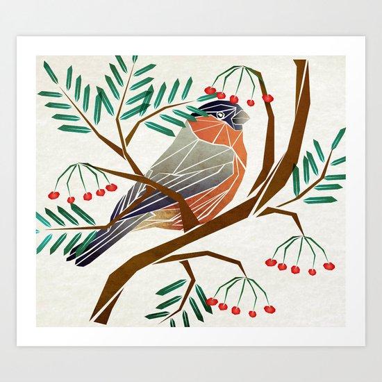 bird eat Art Print