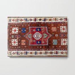 Kurdish  Antique Cihanbeyli  Tribal Rug Print Metal Print