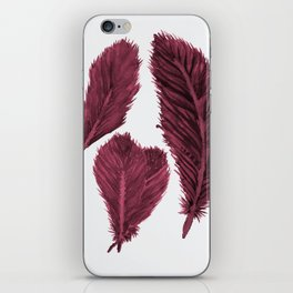 Feather Collection - bordeux iPhone Skin