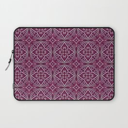 Cherry Hearts - Handmade Bohemian Romantic Lineart and Watercolor repeat surface design Laptop Sleeve