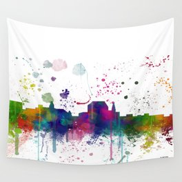 Augusta, Maine Skyline Wall Tapestry