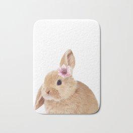 flower bunny Bath Mat