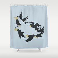 dumbo Shower Curtains featuring Dumbo by Citron Vert