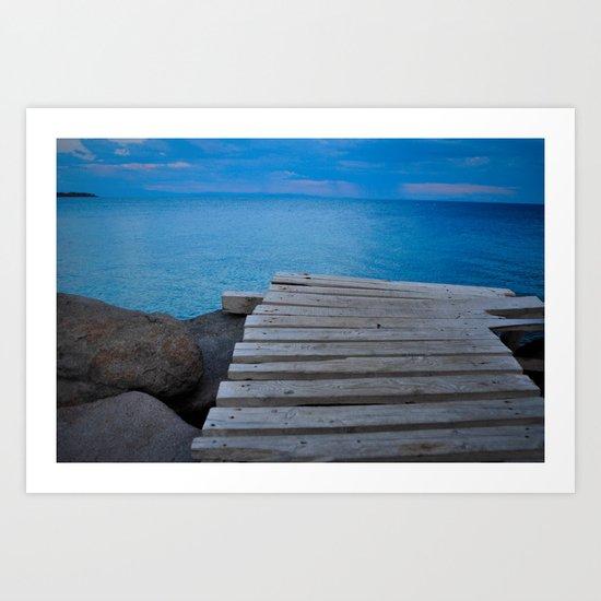 The Aegean Art Print